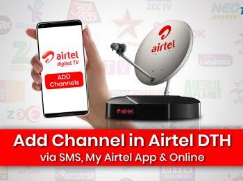 Add Channel in Airtel DTH