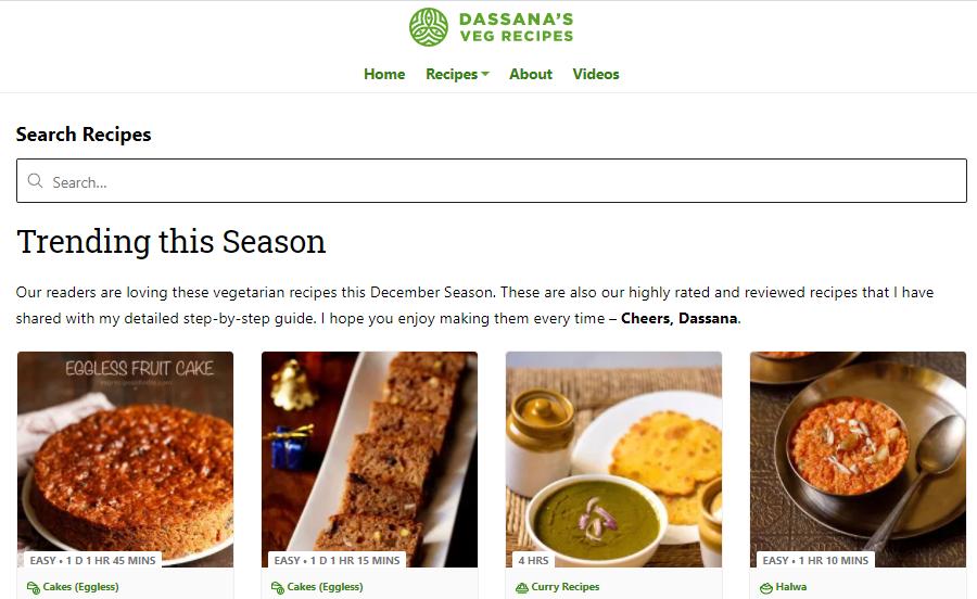Dassana (Veg Recipes)