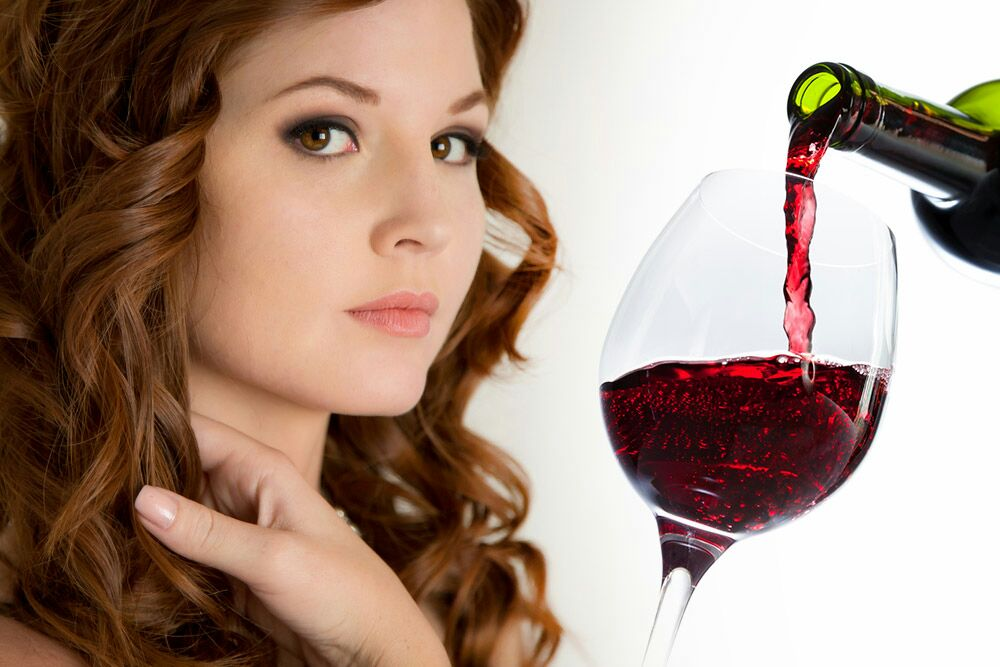 red wine for skin and hair