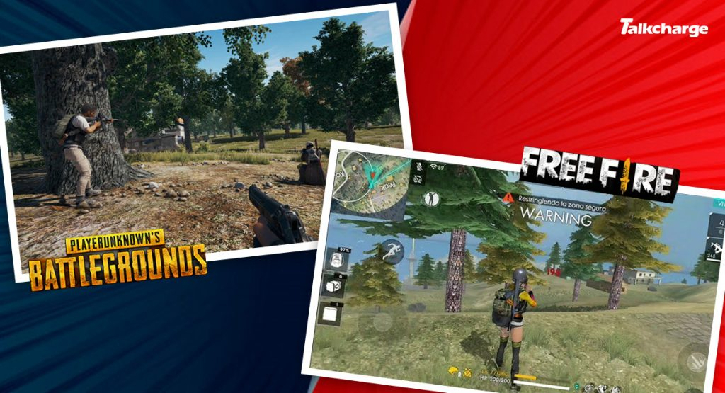 PUBG Mobile vs Free Fire: Graphics and Real-Like Experience