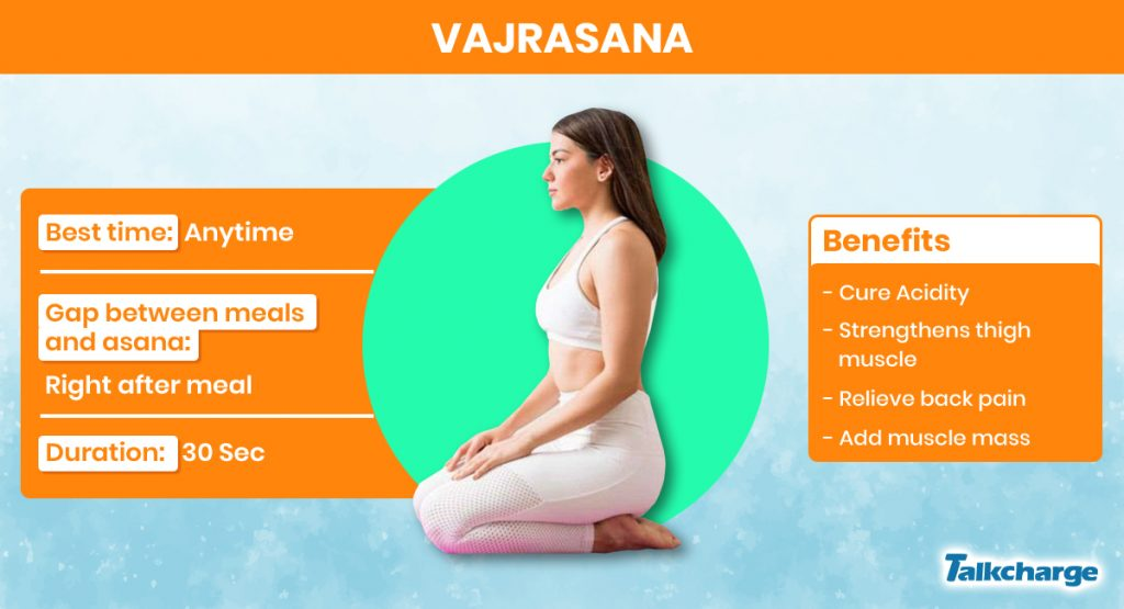 Vajrasana for Weight Gain