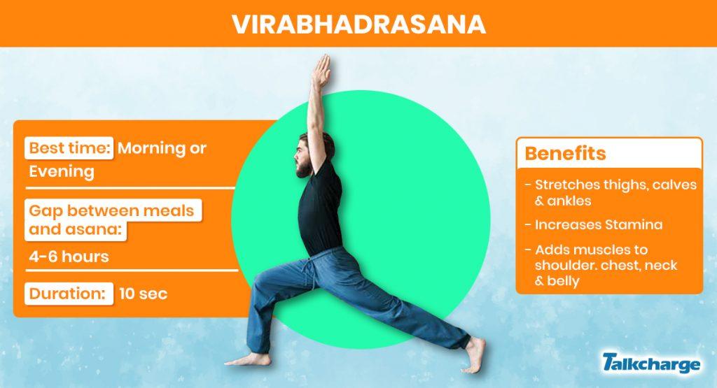 Virabhadrasana for Weight Gain