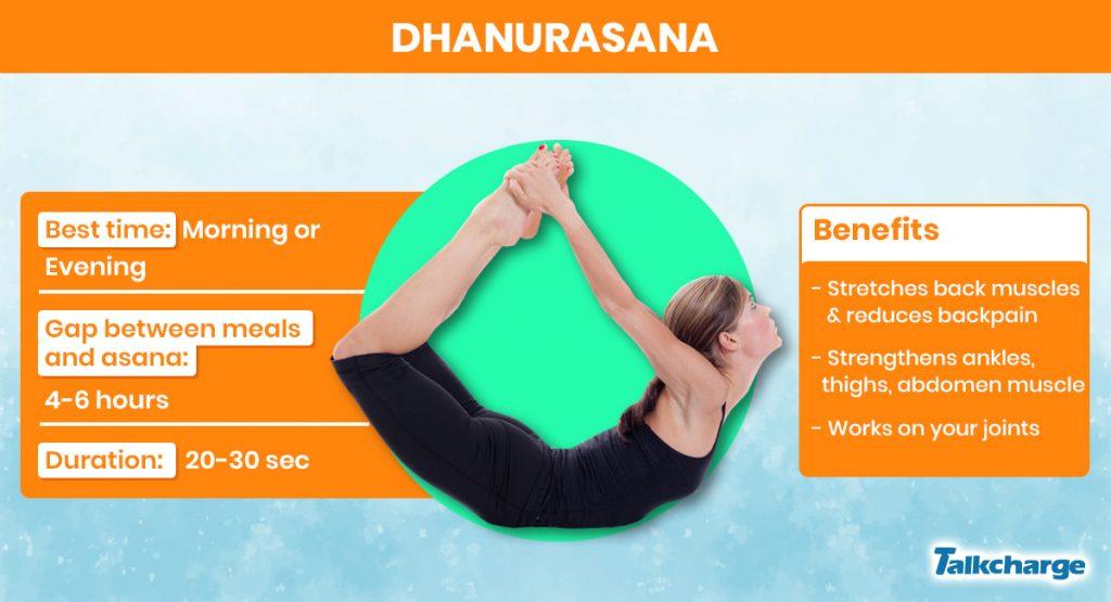 Dhanurasana for gaining weight