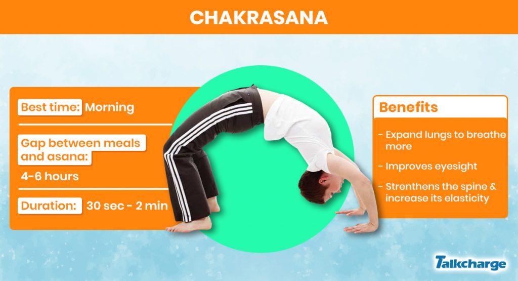 Chakrasana for gaining weight