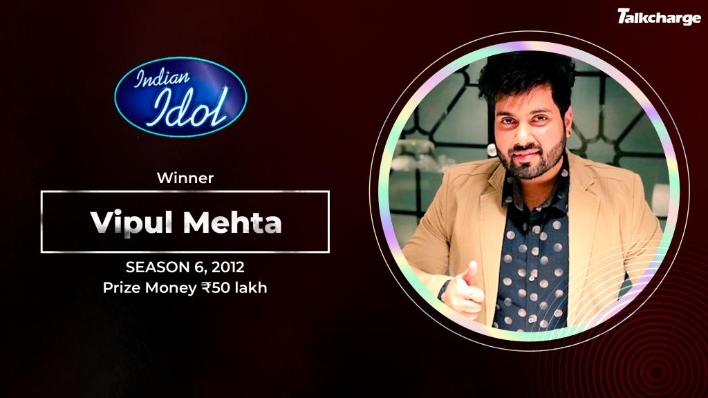 Vipul Mehta Season 6 Winner