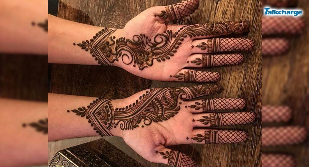 Trailed Pattern Mehndi Design
