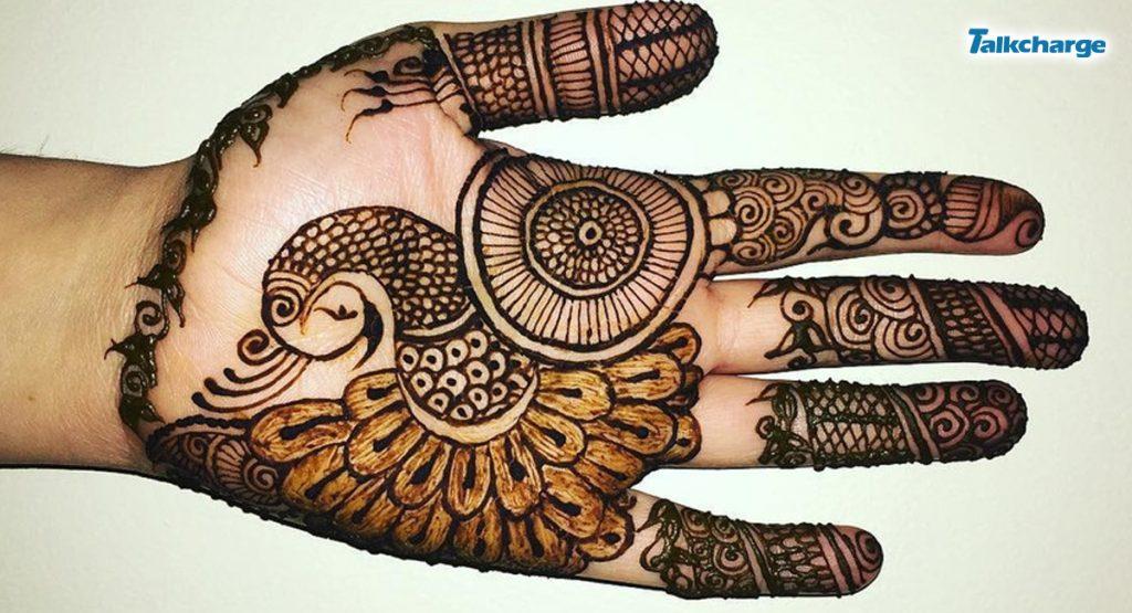 Peacock or Mor Henna Design