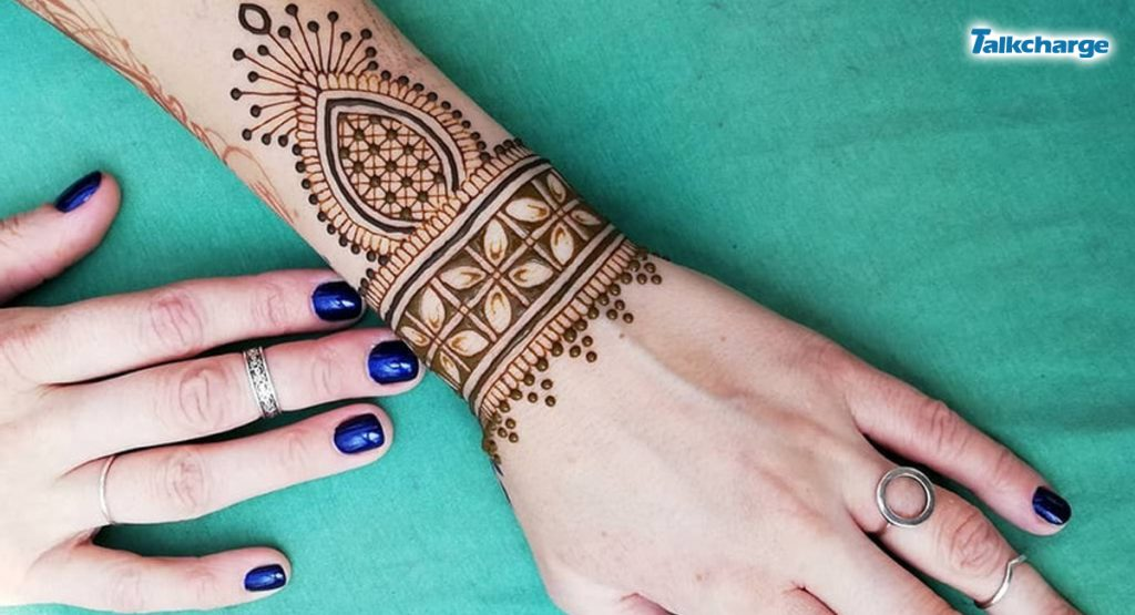 Bracelet Style Simple Mehndi Design