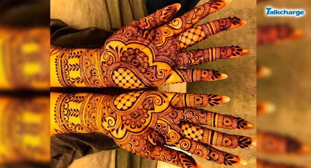 Heavy Arabic Henna Design