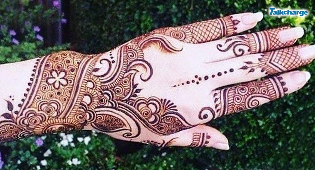 Henna Design with Intricate Paisley Motifs