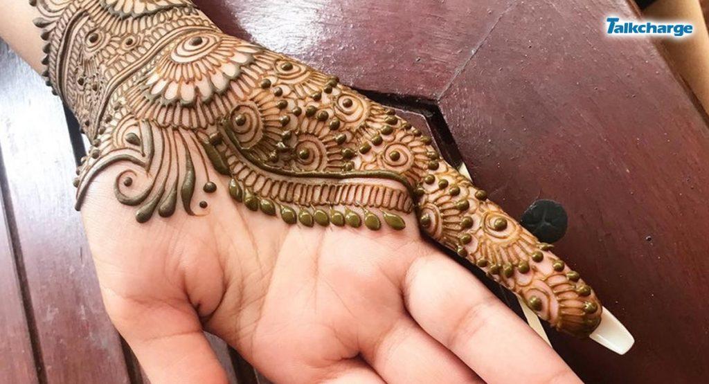 Half Hand Henna Design