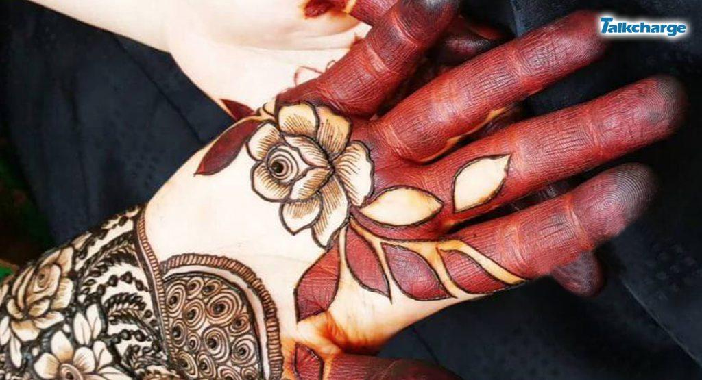 Rose Pattern easy mehndi designs