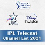 IPL 2021 Channel List: IPL Live Telecast TV Channels