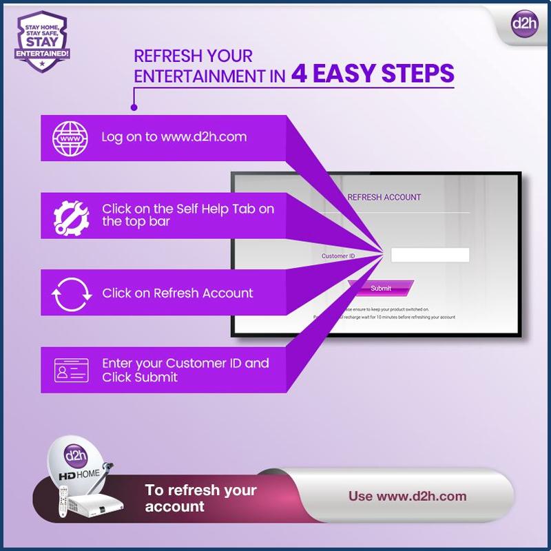 Videocon d2h login Refresh Account Online