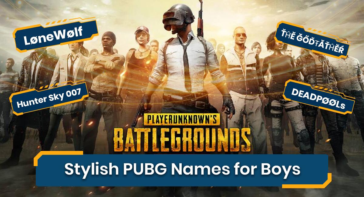 PUBG Names for Boys