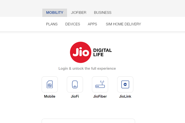 click on jio mobile