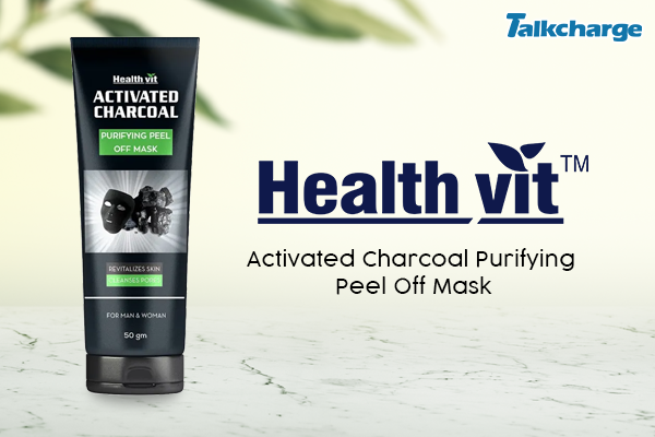HealthVit Activated Charcoal Purifying Peel Off Mask