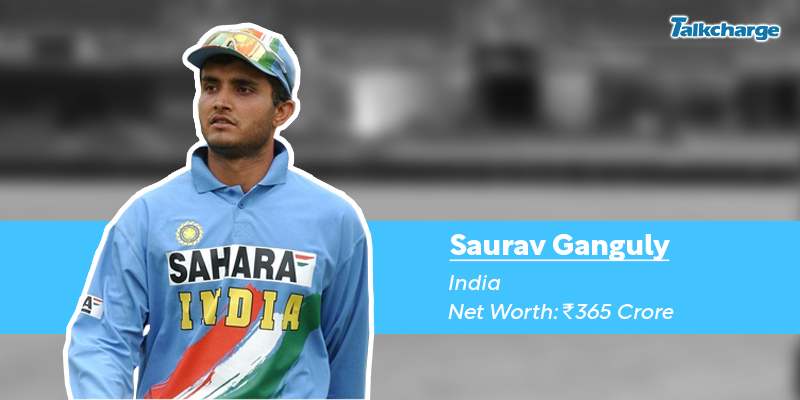 Sourav Ganguly - the richest cricketer in the world