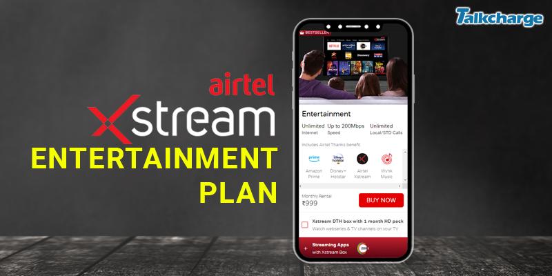 Airtel Xstream Plans for Entertainment