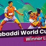 Men's Kabaddi World Cup Winners List: Standard and Circular Style