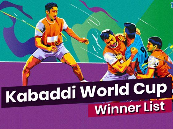 Kabaddi World Cup Winners List