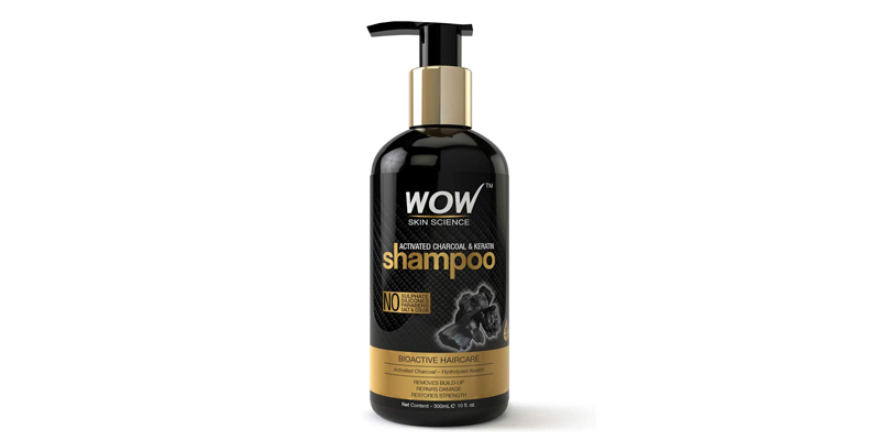 WOW Skin Science Activated Charcoal & Keratin Shampoo