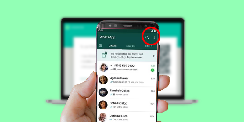 Open WhatsApp on your phone