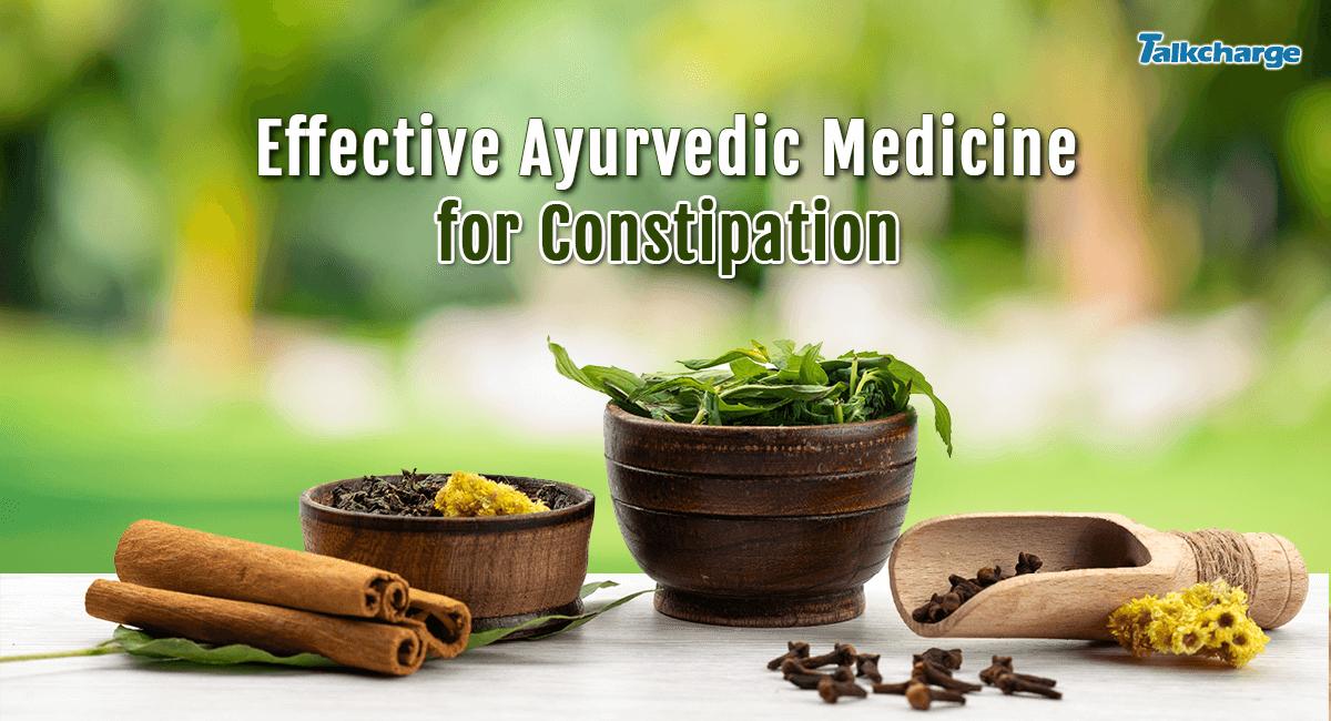 ayurvedic medicine for constipation