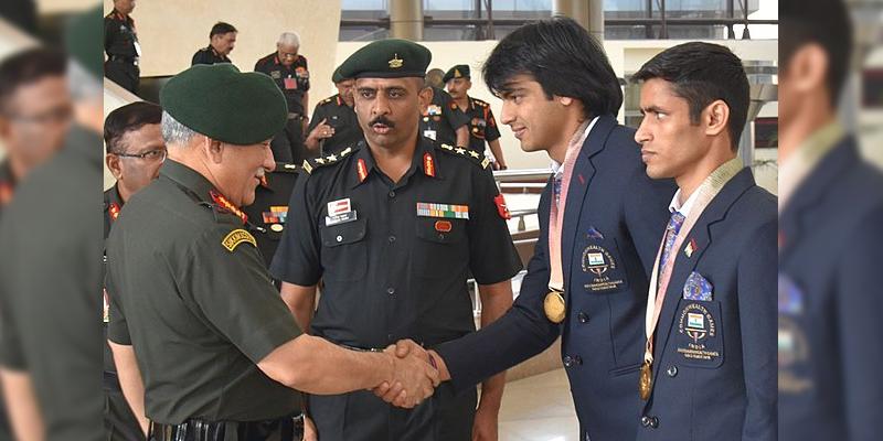 Neeraj Chopra in Army