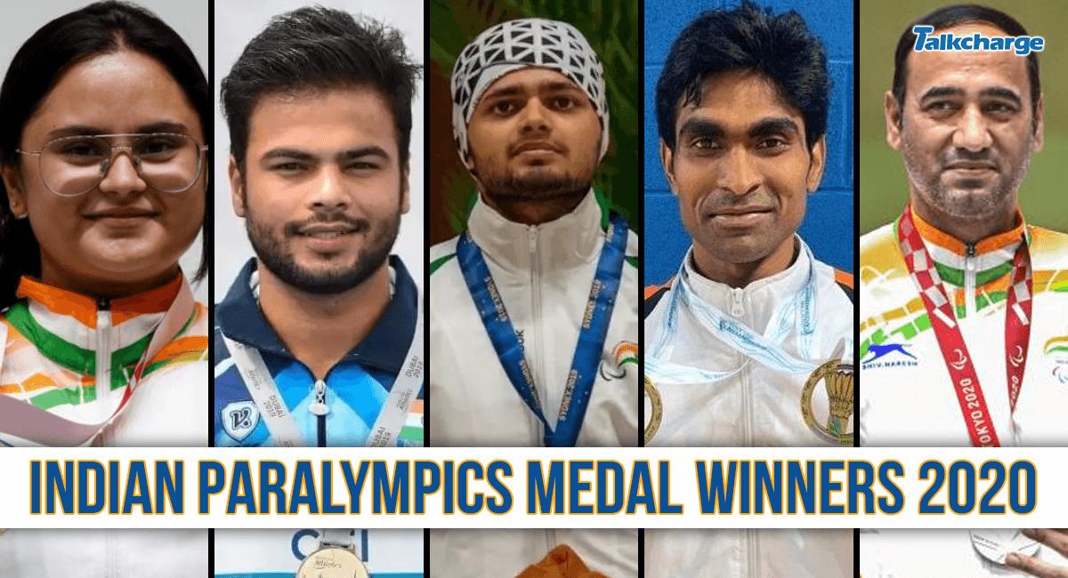 tokyo 2020 indian paralympics winners