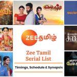 Zee Tamil Serial List 2021: Timings, Schedule & Synopsis