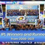 IPL Winners List from 2008 to 2021: Runner-ups, MVP, Orange & Purple Cap