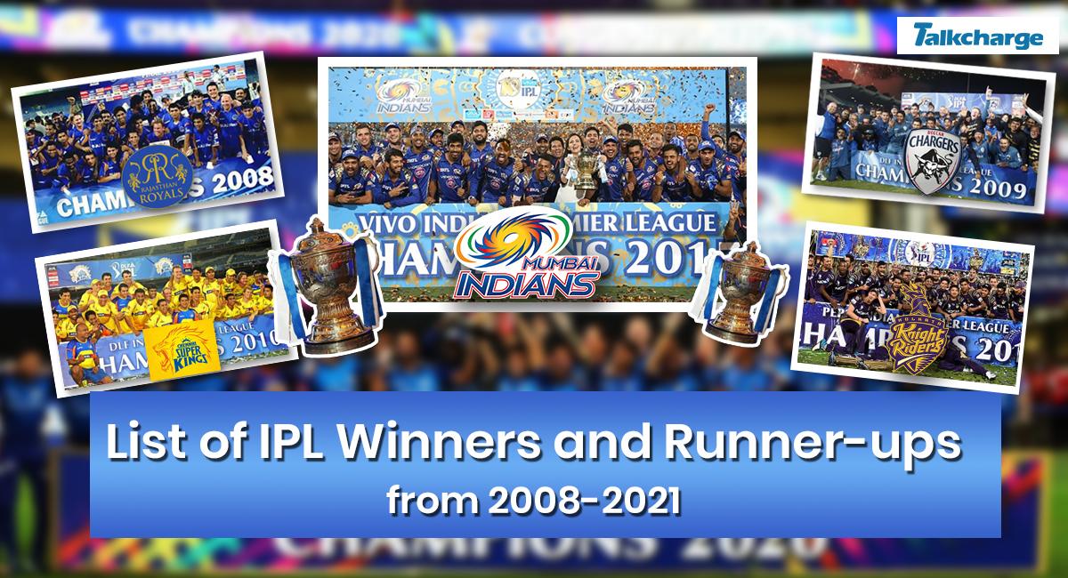 IPL Winners List